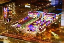 A artist rendering of The Grand Bazaar Shops outside of Bally's Las Vegas