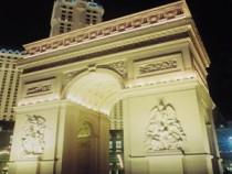 Replica of Arc de Triomphe at Paris Las Vegas