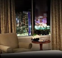 A Monte Carlo room with a Las Vegas view