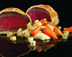 Signature dish Roasted Beef Wellington from Gordon Ramsay Steak Las Vegas