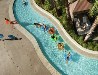 The Lazy River at the MGM Grand Pool Complex