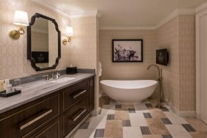 The bathroom in a Julius Executive Suite in Caesars Palace Las Vegas