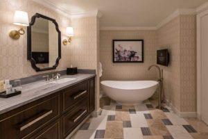 The bathroom in a Julius Executive Suite in Caesars Palace Las Vegas