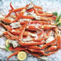 Crab legs, crab legs, and more crab legs at the Buffet in Aria Las Vegas
