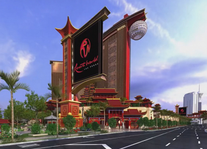 An artist rendering of the future Resorts World Chinese-themed Las Vegas resort