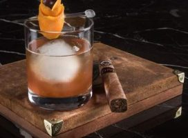 A cocktail and cigar at the new Montecristo Cigar Bar at Caesars Palace Las Vegas