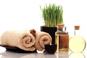 Towels and oils for a spa treatment at Flamingo Las Vegas
