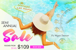 Semi-Annual Sale with Caesars Palace Las Vegas