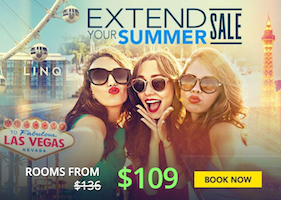 Extend Your Summer Sale - Room rates from $109 with Caesars Palace Las Vegas