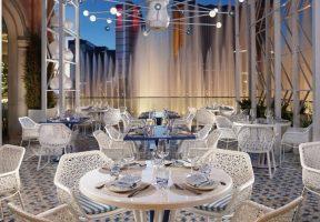 Beautiful fountain views when dining at Lago by Julian Serrano at Bellagio Las Vegas