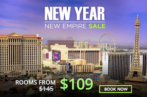 New Year New Empire with rates starting from $109 with Caesars Palace Las Vegas
