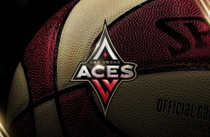 The Las Vegas Aces Women's basketball team playing in Mandalay Bay Las Vegas