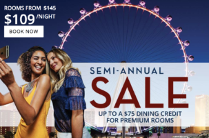 Caesars Palace Las Vegas Semi-Annual Sale + $75 Dining Credit for Premium Rooms
