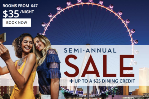 Flamingo Las Vegas Semi-Annual Sale + Up To A $25 Dining Credit