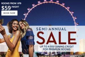Paris Las Vegas Semi-Annual Sale Up to A $50 Dining Credit for Premium Rooms