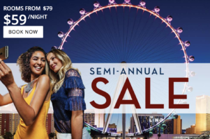 Planet Hollywood Las Vegas Semi-Annual Sale with rates from $59