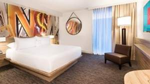 A Deluxe Room at The Linq Las Vegas