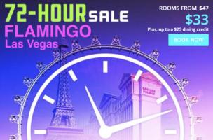 72-Hour Sale with Flamingo Las Vegas