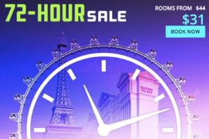 72-Hour Sale with Harrah's Las Vegas