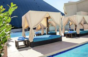 A Bar Pool Daybed by the Luxor Oasis Pool