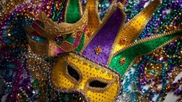 A masquerade mask at Rio Las Vegas