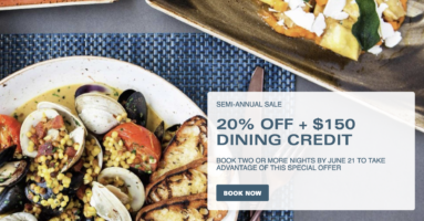 20% Off + $150 Dining Credit at Aria Las Vegas