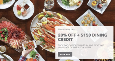 20% Off + $150 Dining Credit with Bellagio Las Vegas