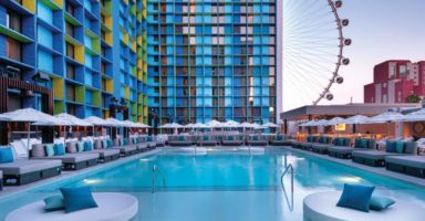 The Linq Las Vegas pool