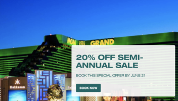 20% Off Semi-Annual Sale with MGM Grand Las Vegas