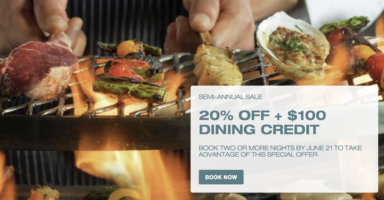 20% off + $100 Dining Credit with Mirage Las Vegas