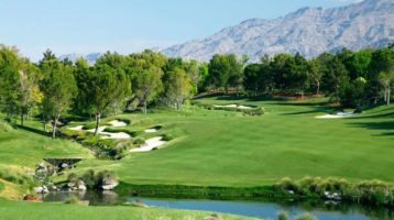 A golf course in Las Vegas