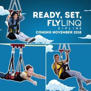 Ready, Set,  FlyLing Zipliine. Coming November 2018 at The Linq Promenade Las Vegas