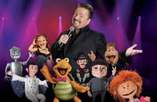Terry Fator with his cast of puppets at Mirage Las Vegas
