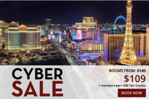 Cyber Sale with rates from $109 with Caesars Palace Las Vegas