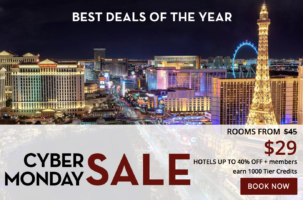 Cyber Monday Sale from $29 at Harrah's Las Vegas