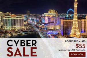 Cyber Sale rates from $55 with Paris Las Vegas