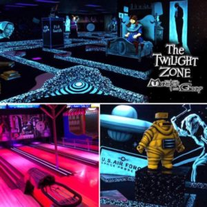 The Twilight Zone themed mini-golf and bowling alley in Bally's Las Vegas