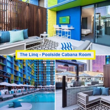 Pictures of the Poolside Cabana Room at Linq Las Vegas