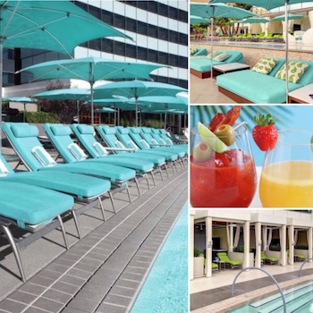 Pictures of the pool & cocktails at Vdara Las Vegas