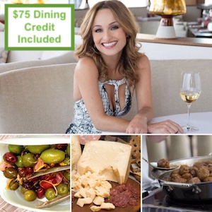 Chef Giada De Laurentiis and her dishes from Giada's at The Cromwell Las Vegas