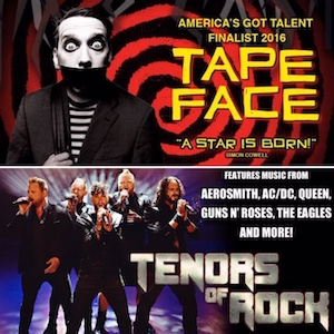 Tape Face and Tenors of Rock at Harrah's Las Vegas