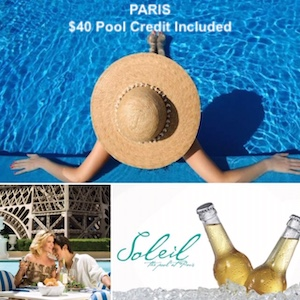 Paris - $40 Pool Credit Included / Paris Las Vegas
