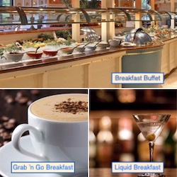Buffet Breakfast, Grab 'n Go Breakfast, and Liquid Breakfast with Flamingo Las Vegas
