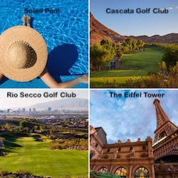 The Soleil Pool, Cascata Golf Club, Rio Secco Golf Club, and Eiffel Tower at Paris Las Vegas