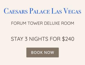 Caesars Palace Las Vegas - Séjournez 3 nuits pour 240 $