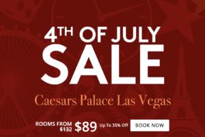 Caesars Palace Las Vegas - Vente du 4 juillet